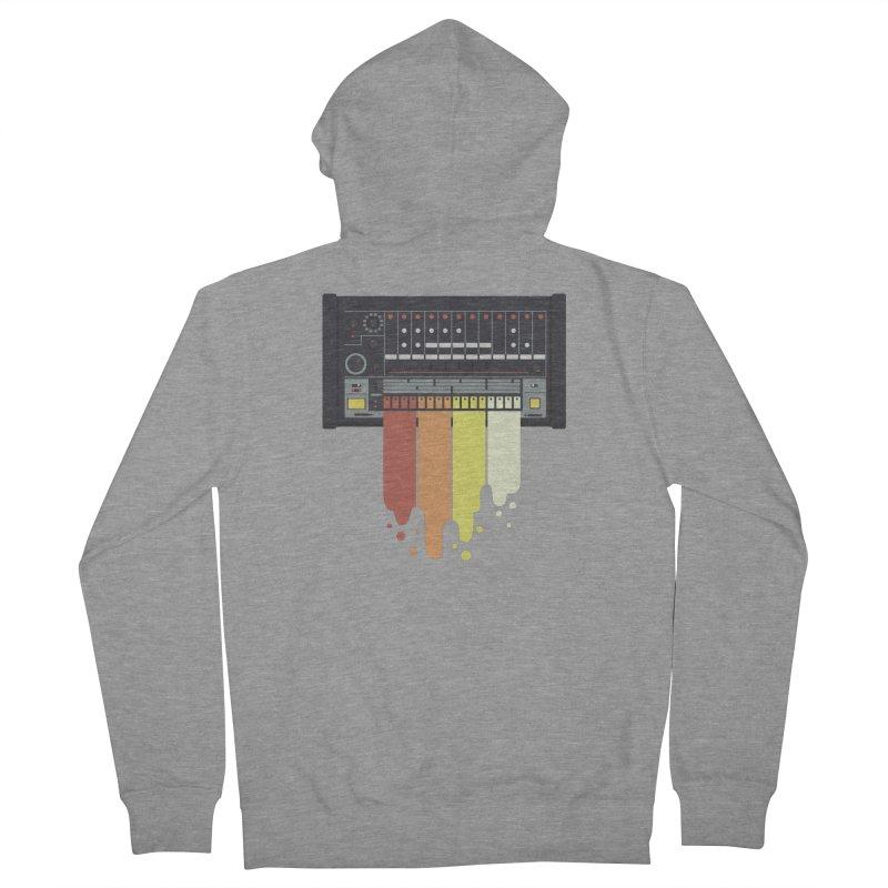 Drum Machine Men's Zip-Up Hoody by Jayme T-shirts