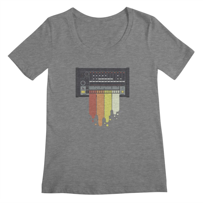 Drum Machine Women's Scoopneck by Jayme T-shirts