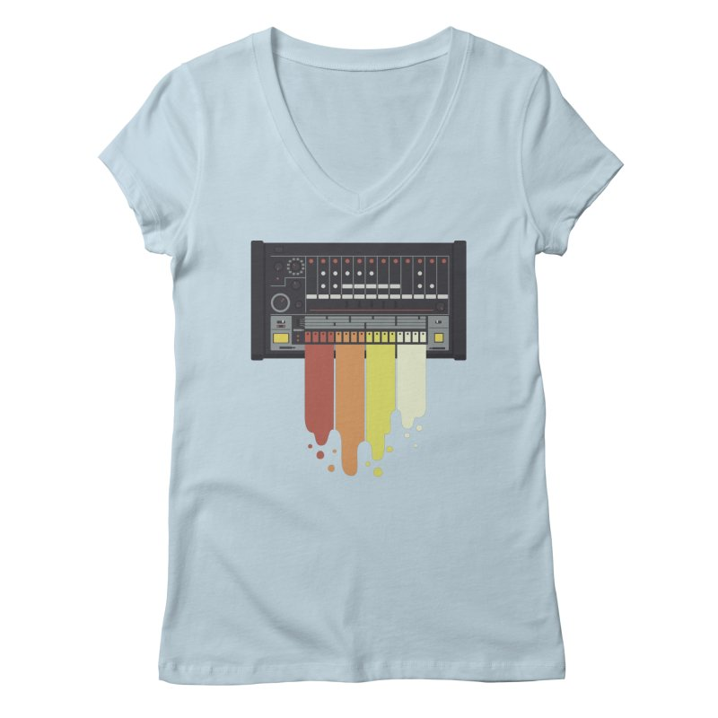 Drum Machine Women's V-Neck by Jayme T-shirts
