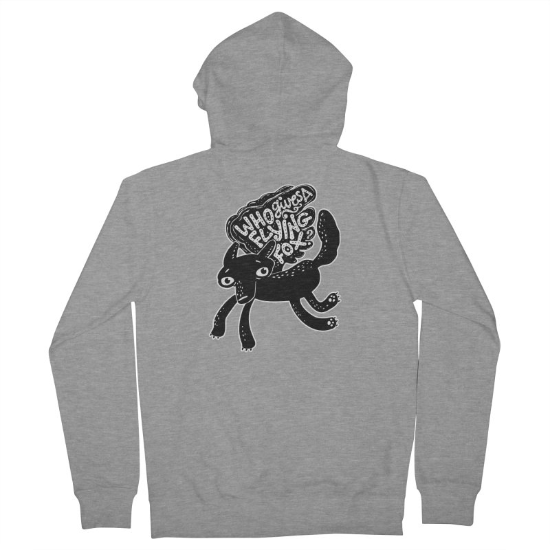Flying Fox Men's Zip-Up Hoody by Jayme T-shirts