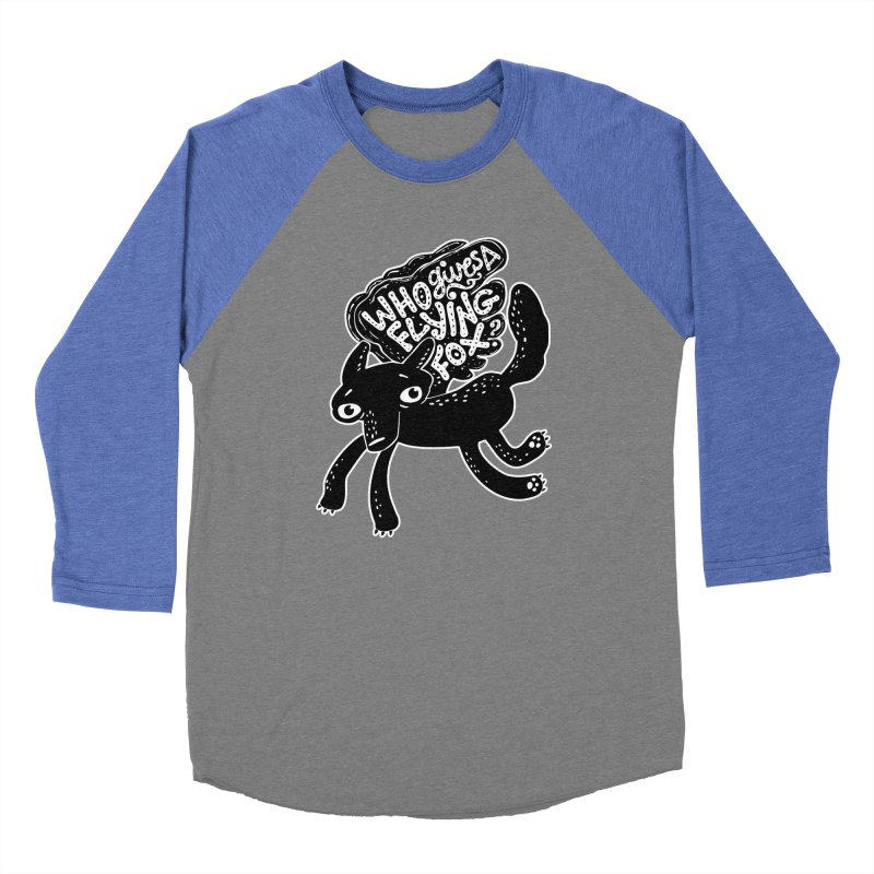 Flying Fox Men's Baseball Triblend T-Shirt by Jayme T-shirts