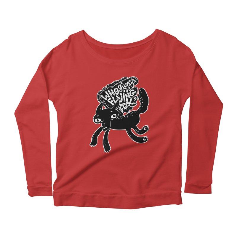 Flying Fox Women's Longsleeve Scoopneck  by Jayme T-shirts