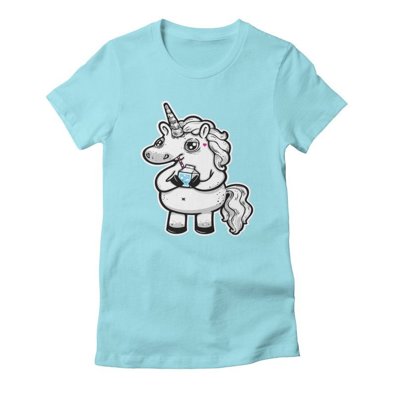 Legend-Dairy in Women's Fitted T-Shirt Cancun by Jayme T-shirts