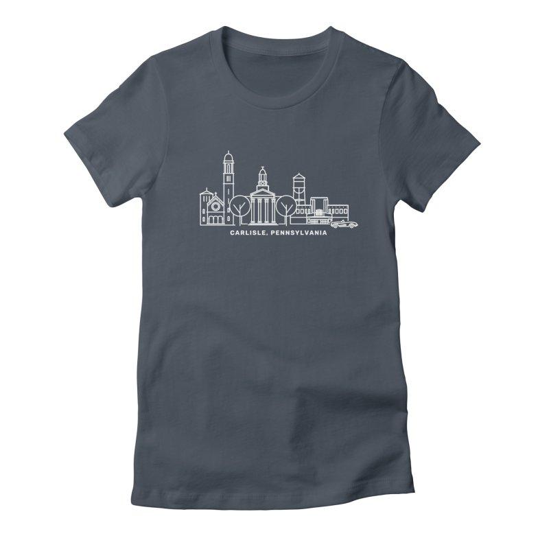 Carlisle, Pennsylvania Downtown Doodle Women's T-Shirt by JayneandJoy's Artist Shop