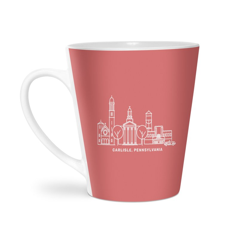 Carlisle, Pennsylvania Downtown Doodle Accessories Latte Mug by JayneandJoy's Artist Shop