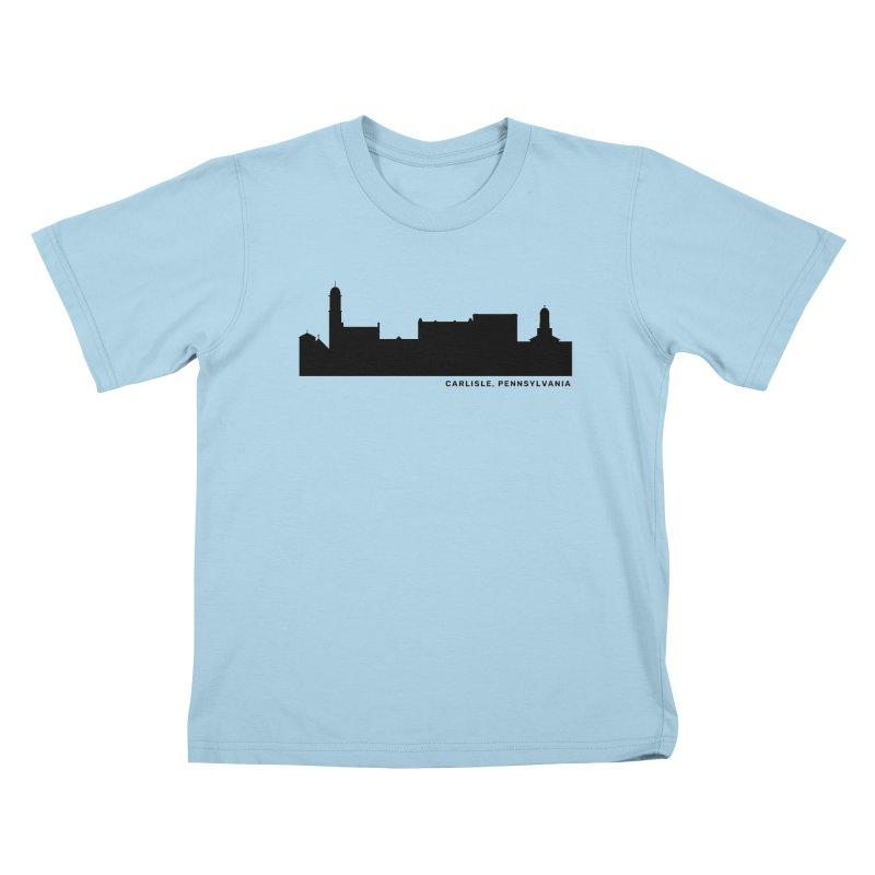 Carlisle, Pennsylvania Skyline Kids T-Shirt by JayneandJoy's Artist Shop