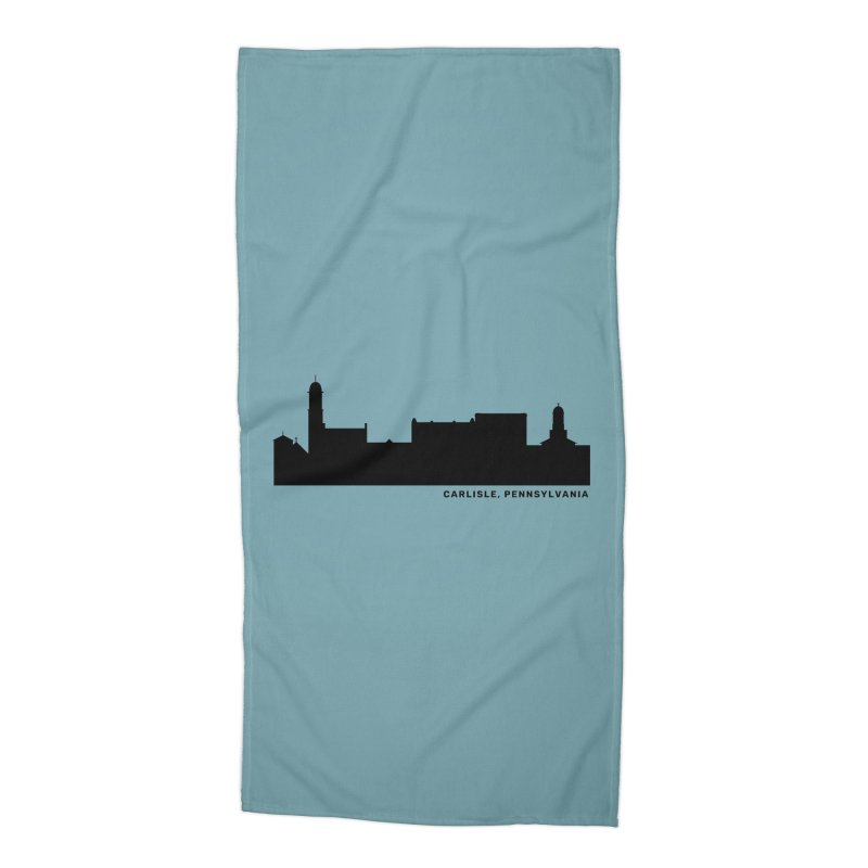 Carlisle, Pennsylvania Skyline Accessories Beach Towel by JayneandJoy's Artist Shop