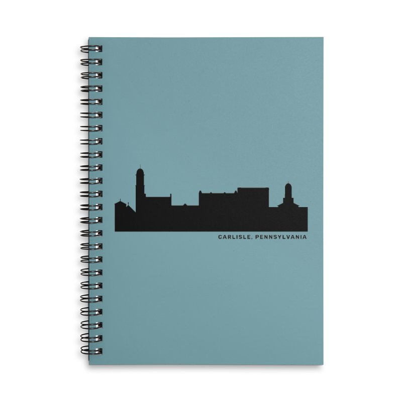 Carlisle, Pennsylvania Skyline Accessories Lined Spiral Notebook by JayneandJoy's Artist Shop