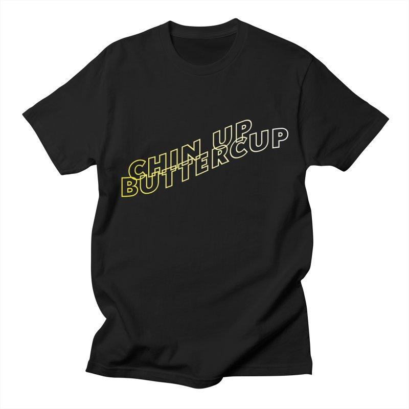 Chin up Buttercup Wavy Men's T-Shirt by JayneandJoy's Artist Shop