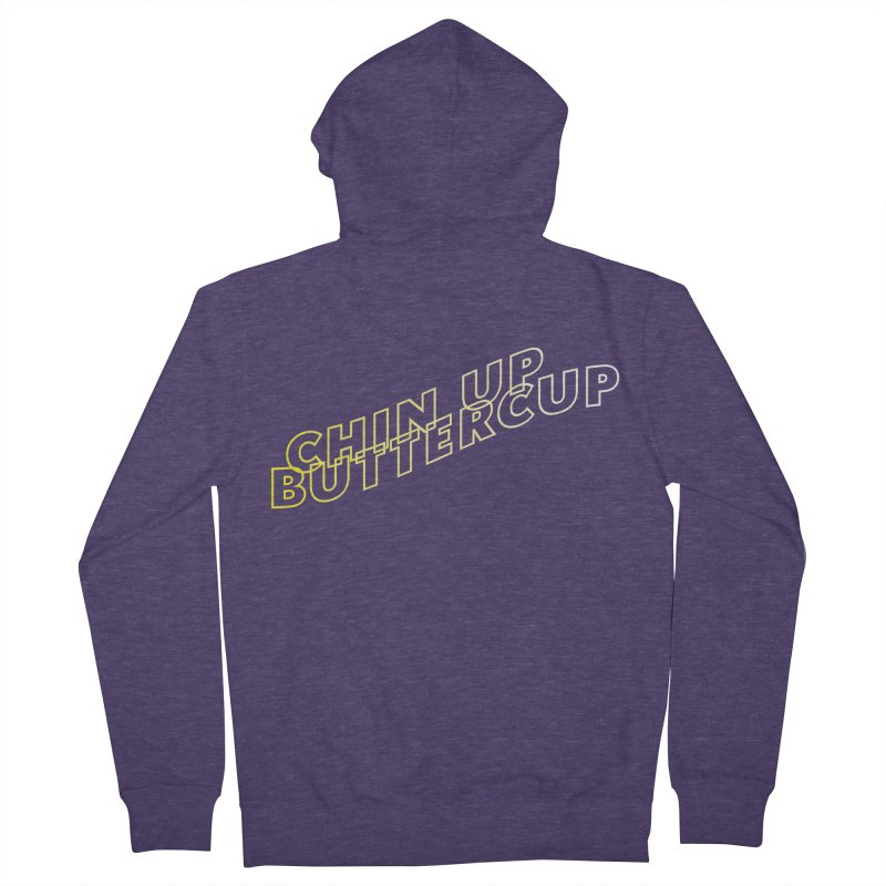 Chin up Buttercup Wavy Men's French Terry Zip-Up Hoody by JayneandJoy's Artist Shop
