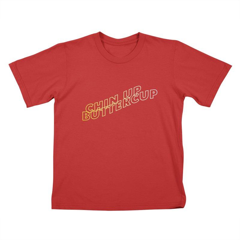 Chin up Buttercup Wavy Kids T-Shirt by JayneandJoy's Artist Shop
