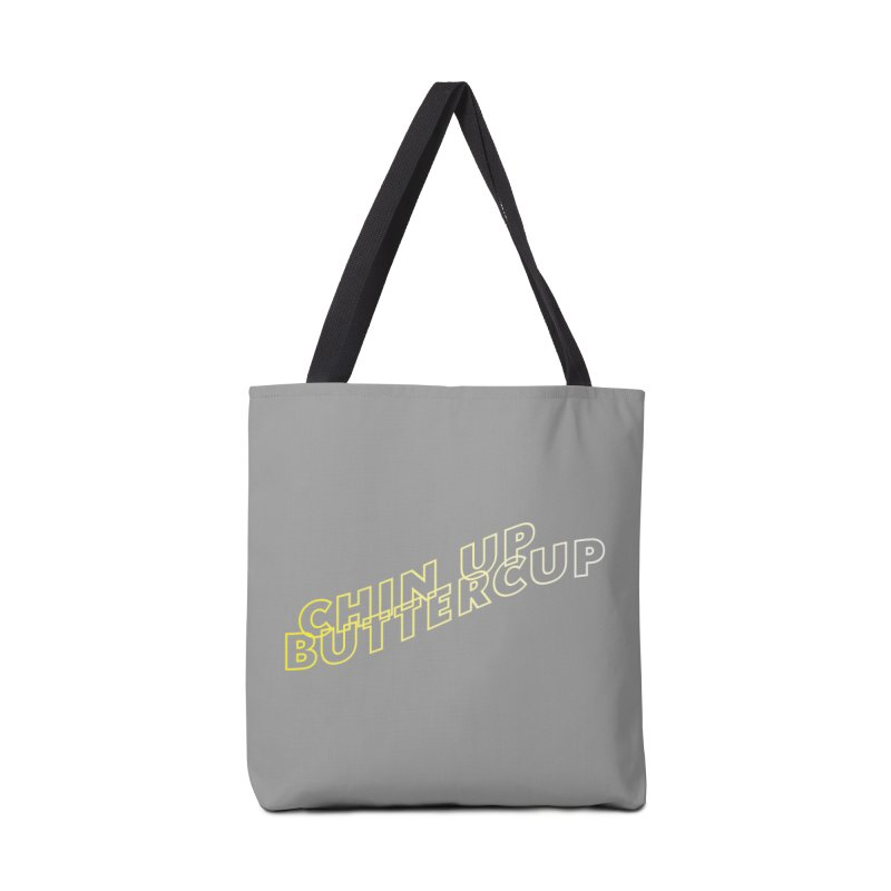 Chin up Buttercup Wavy Accessories Tote Bag Bag by JayneandJoy's Artist Shop