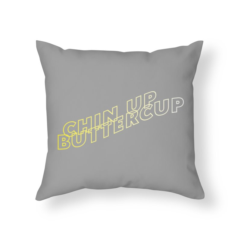 Chin up Buttercup Wavy Home Throw Pillow by JayneandJoy's Artist Shop