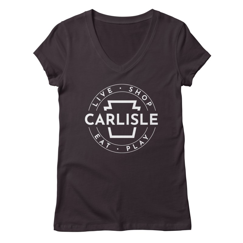 Live Shop Eat Play Carlisle Women's Regular V-Neck by JayneandJoy's Artist Shop