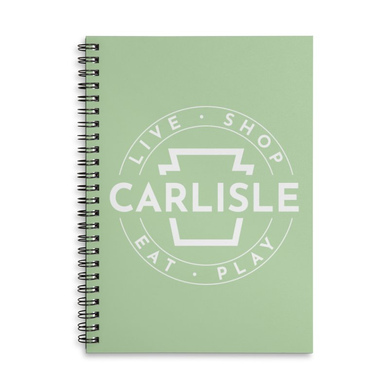 Live Shop Eat Play Carlisle Accessories Lined Spiral Notebook by JayneandJoy's Artist Shop