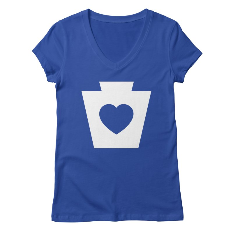 Keystone Heart Women's Regular V-Neck by JayneandJoy's Artist Shop