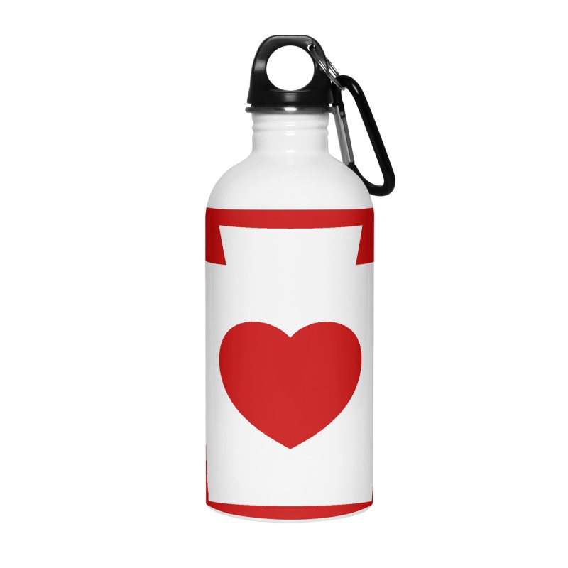 Keystone Heart Accessories Water Bottle by JayneandJoy's Artist Shop