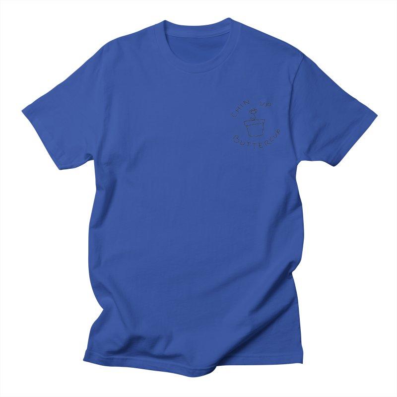 Chin Up Buttercup Tiny Flower Men's T-Shirt by JayneandJoy's Artist Shop