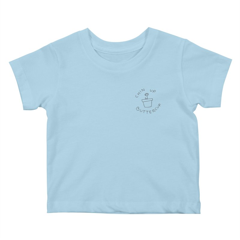Chin Up Buttercup Tiny Flower Kids Baby T-Shirt by JayneandJoy's Artist Shop