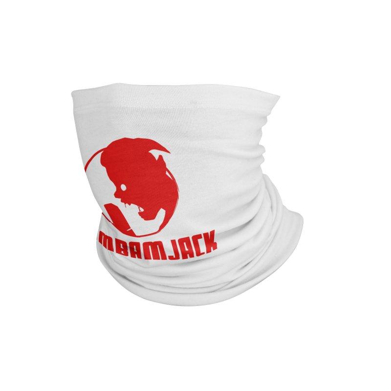 BamBamJack Screaming Demon with Tagline Accessories Neck Gaiter by Jbuck's Artist Shop