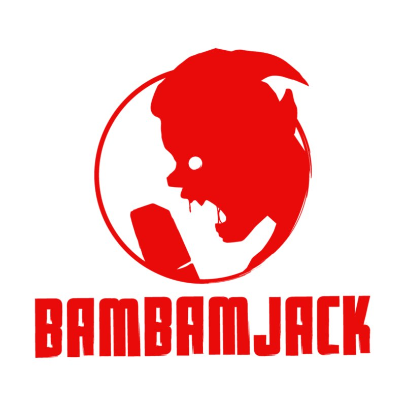 BamBamJack Screaming Demon with Tagline Accessories Face Mask by Jbuck's Artist Shop