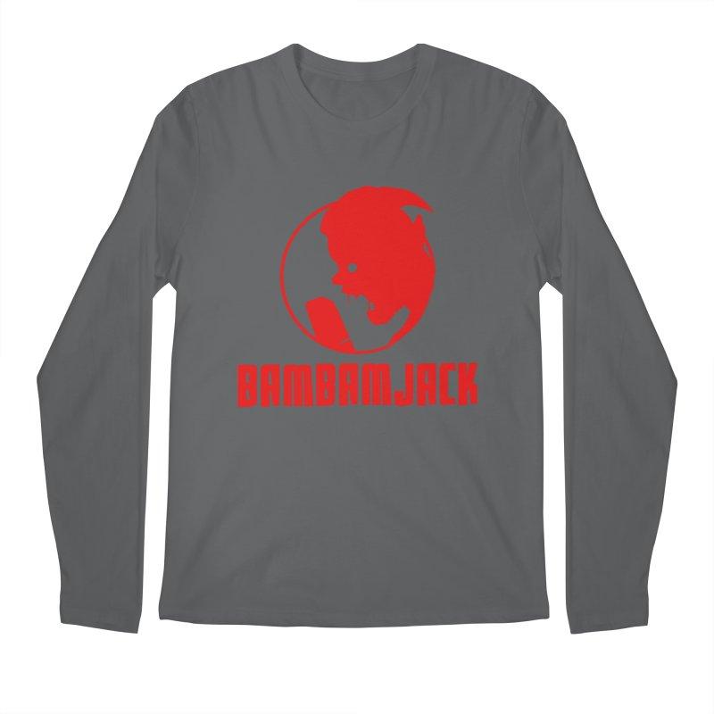 BamBamJack Screaming Demon with Tagline Men's Longsleeve T-Shirt by Jbuck's Artist Shop