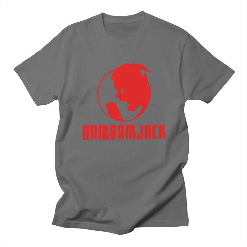 BamBamJack Screaming Demon with Tagline Men's T-Shirt by Jbuck's Artist Shop