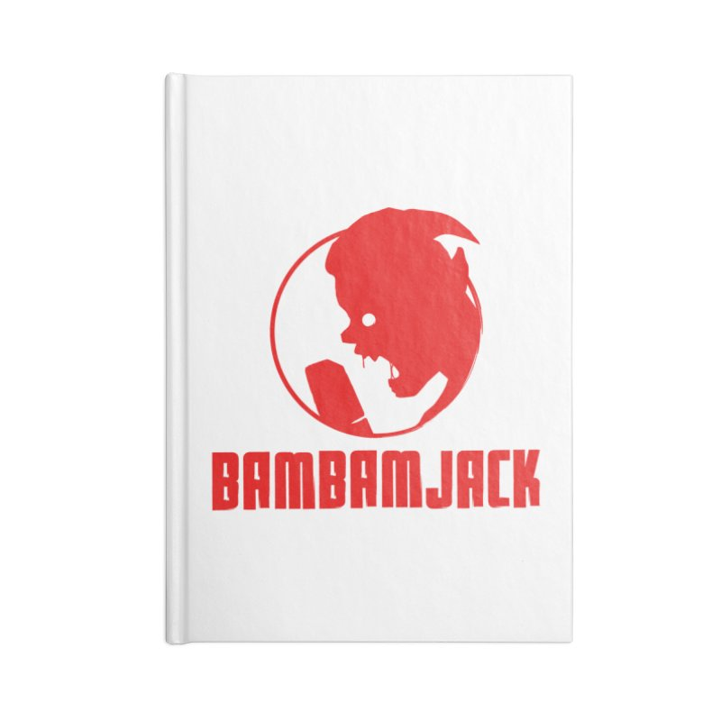 BamBamJack Screaming Demon with Tagline Accessories Notebook by Jbuck's Artist Shop