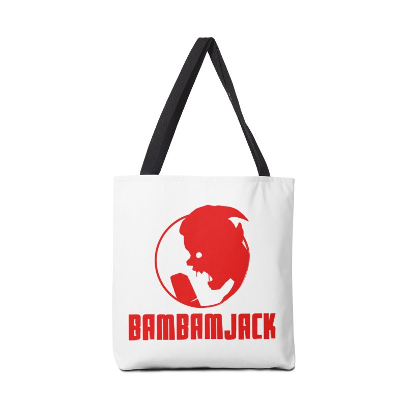 BamBamJack Screaming Demon with Tagline Accessories Bag by Jbuck's Artist Shop