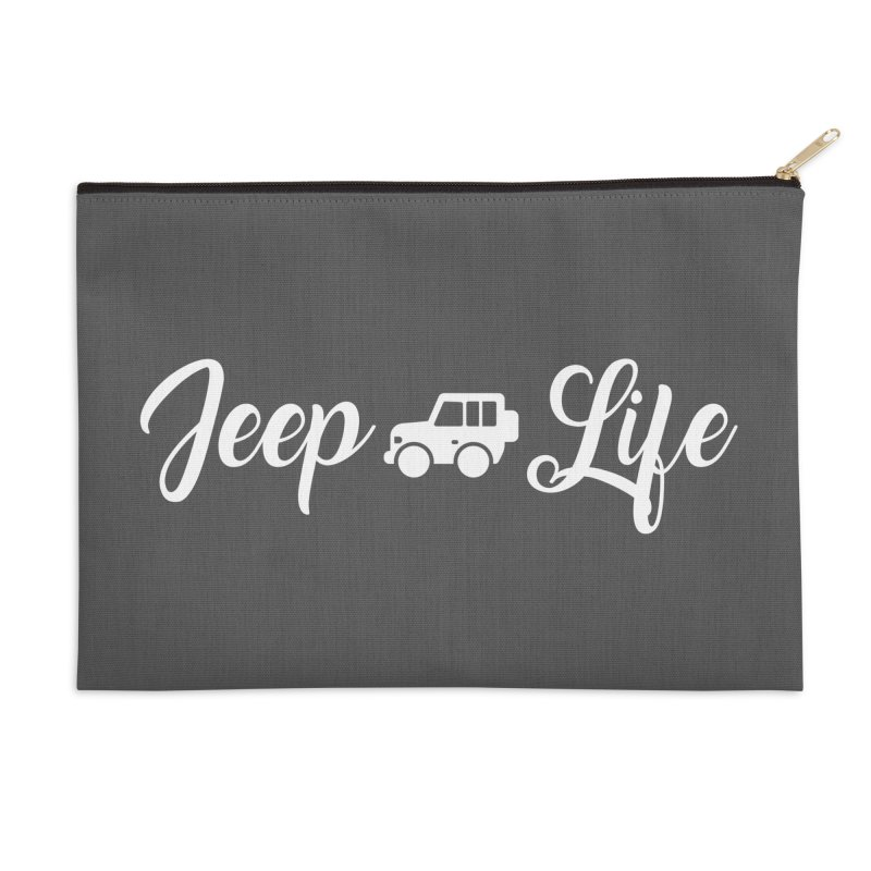 Jeep Life Accessories Zip Pouch by JeepVIPClub's Artist Shop