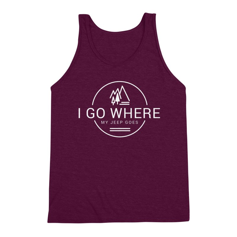 I Go Where My Jeep Goes Men's Triblend Tank by JeepVIPClub's Artist Shop