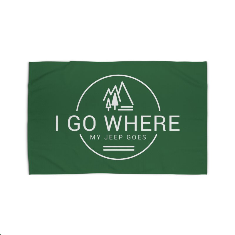 I Go Where My Jeep Goes Home Rug by JeepVIPClub's Artist Shop
