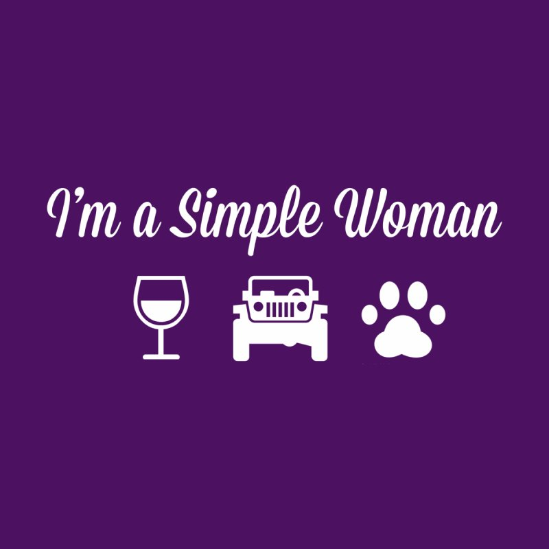 I'm a Simple Woman Accessories Zip Pouch by JeepVIPClub's Artist Shop