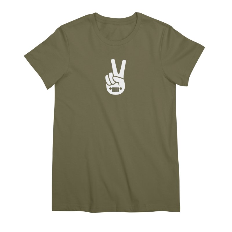 Peace Jeep Women's Premium T-Shirt by JeepVIPClub's Artist Shop