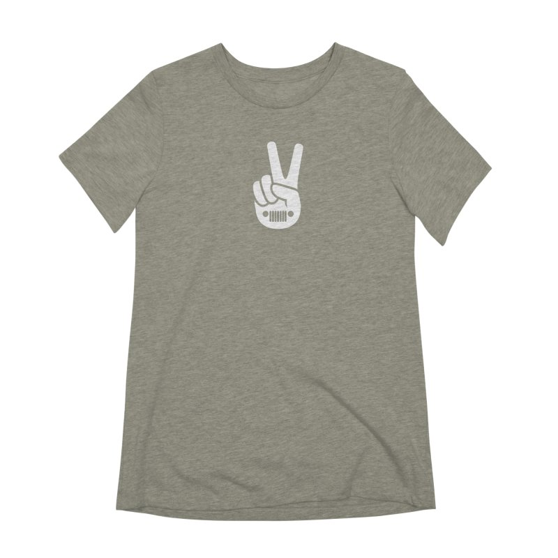 Peace Jeep Women's Extra Soft T-Shirt by JeepVIPClub's Artist Shop