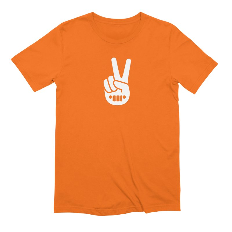 Peace Jeep Men's Extra Soft T-Shirt by JeepVIPClub's Artist Shop