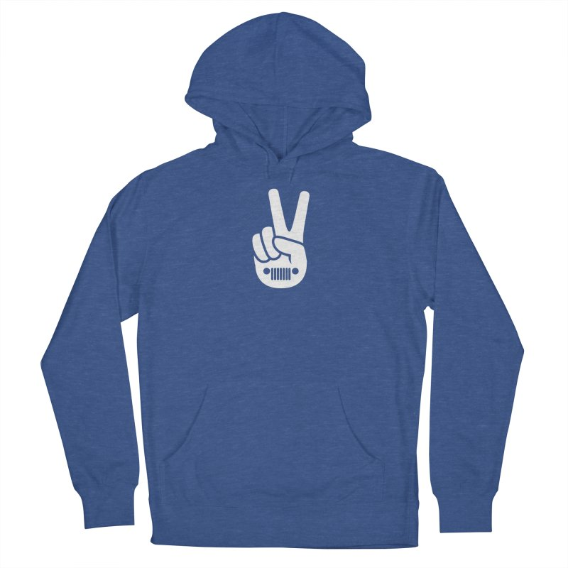 Peace Jeep Women's French Terry Pullover Hoody by JeepVIPClub's Artist Shop