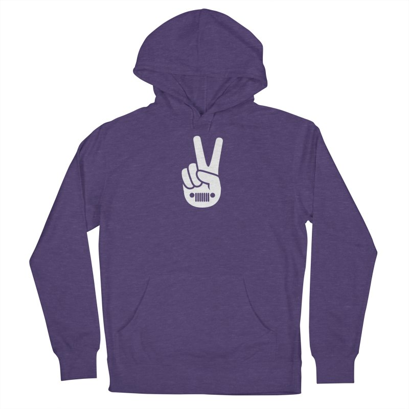 Peace Jeep Men's French Terry Pullover Hoody by JeepVIPClub's Artist Shop