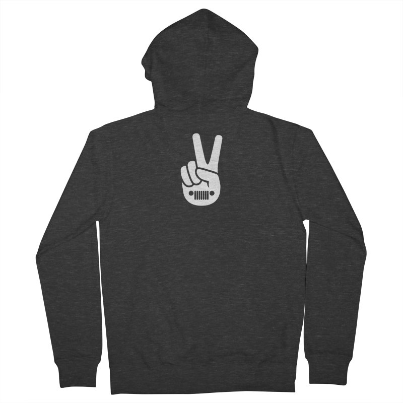 Peace Jeep Women's French Terry Zip-Up Hoody by JeepVIPClub's Artist Shop