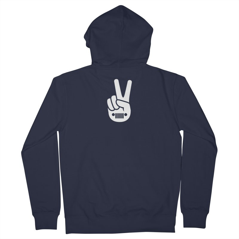 Peace Jeep Men's French Terry Zip-Up Hoody by JeepVIPClub's Artist Shop