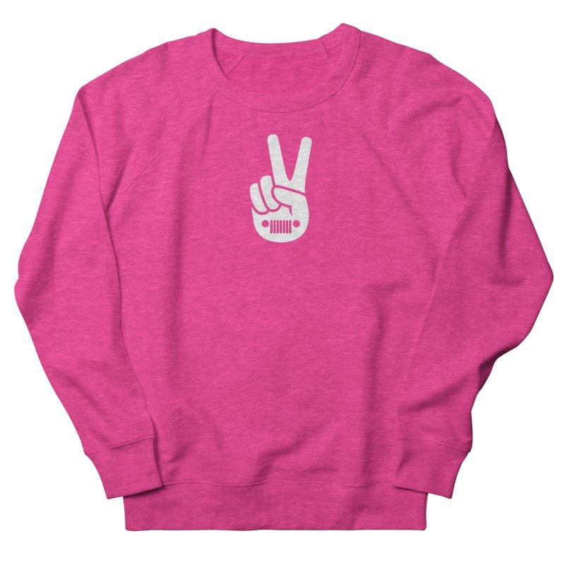 Peace Jeep Women's French Terry Sweatshirt by JeepVIPClub's Artist Shop