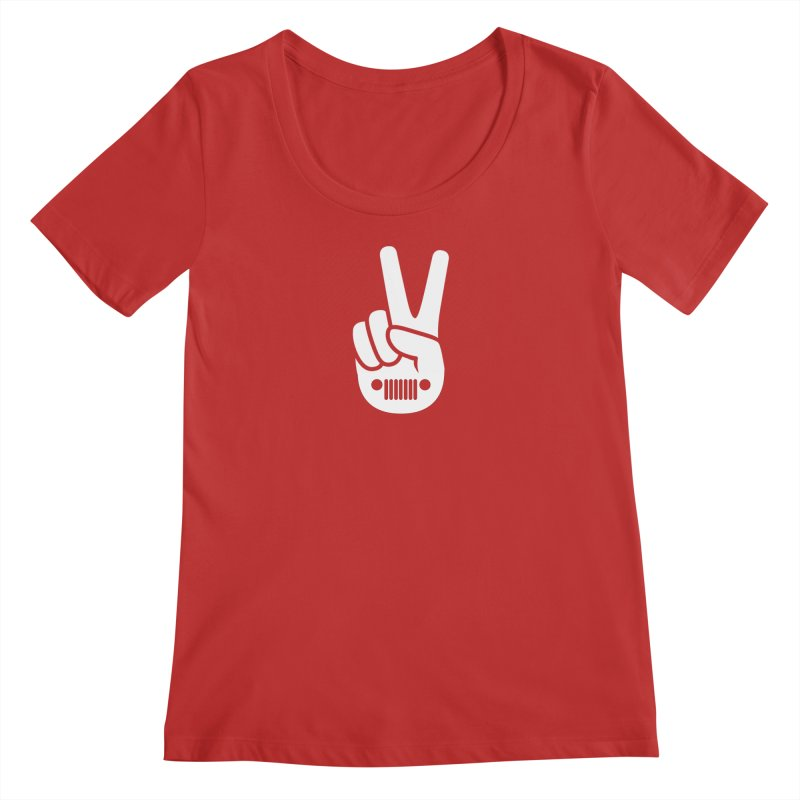 Peace Jeep Women's Regular Scoop Neck by JeepVIPClub's Artist Shop
