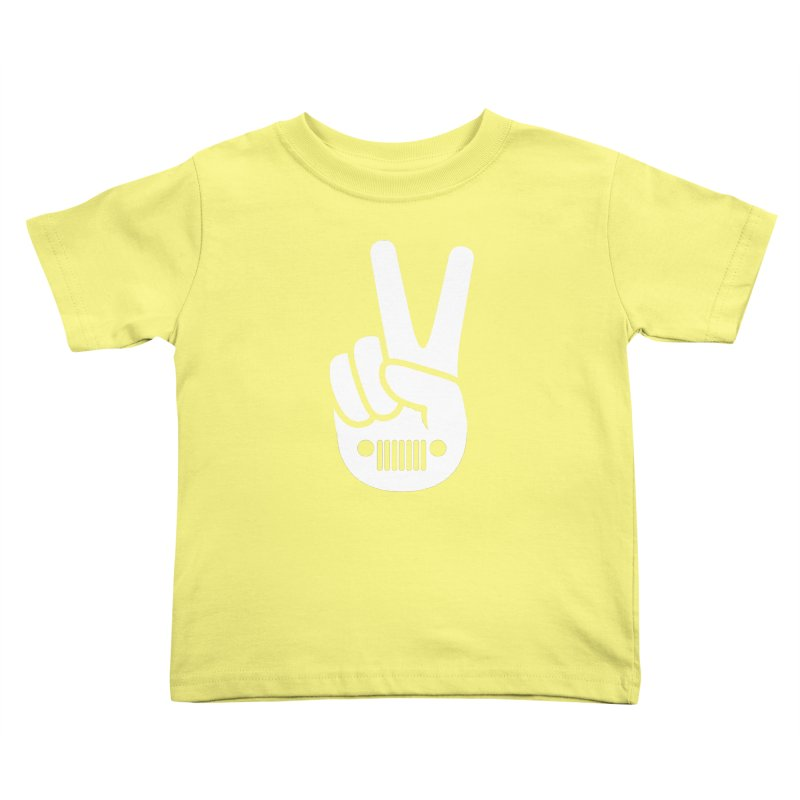 Peace Jeep Kids Toddler T-Shirt by JeepVIPClub's Artist Shop