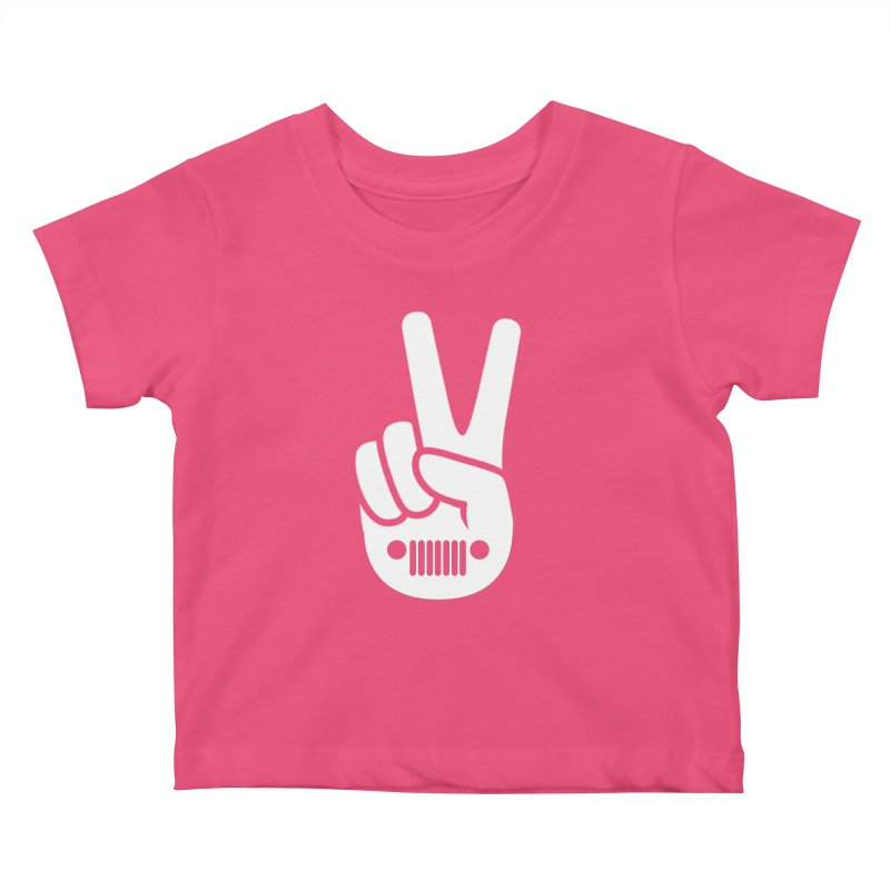 Peace Jeep Kids Baby T-Shirt by JeepVIPClub's Artist Shop