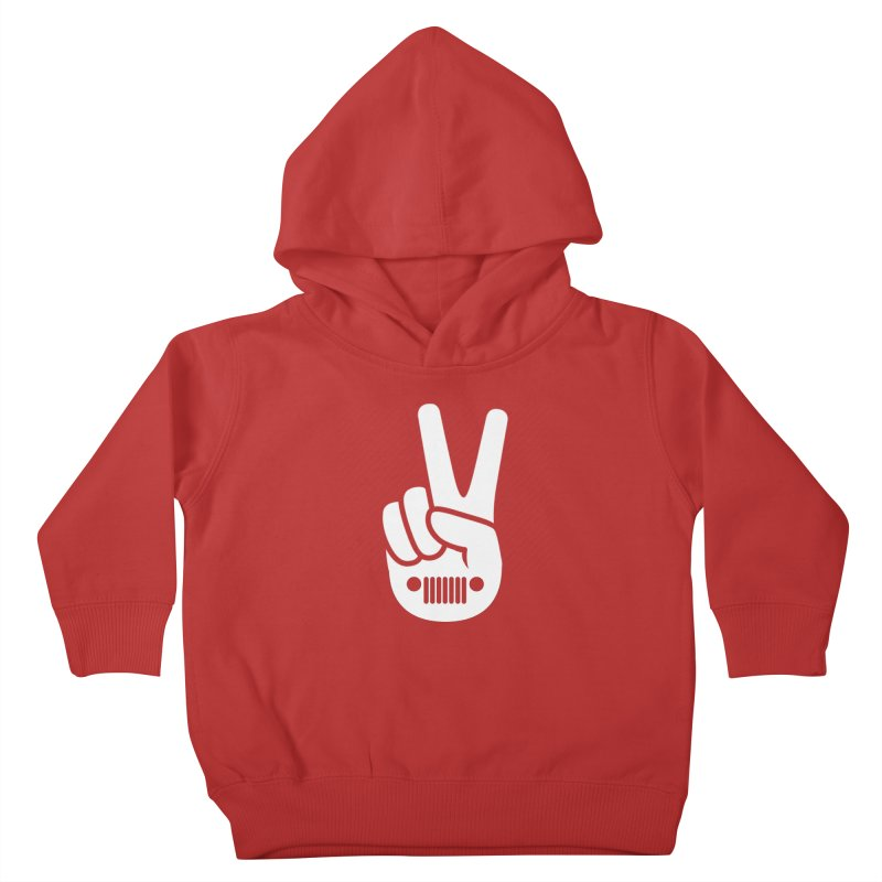 Peace Jeep Kids Toddler Pullover Hoody by JeepVIPClub's Artist Shop