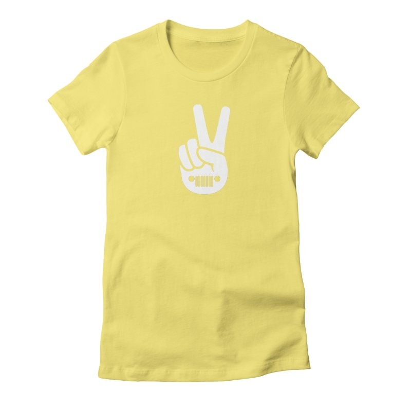 Peace Jeep Women's Fitted T-Shirt by JeepVIPClub's Artist Shop