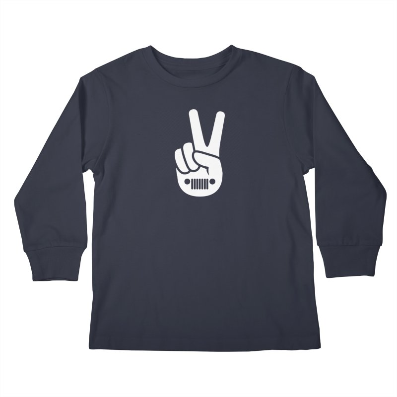 Peace Jeep Kids Longsleeve T-Shirt by JeepVIPClub's Artist Shop