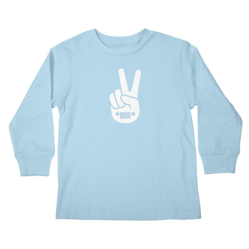 Peace Jeep Kids Longsleeve T-Shirt by JeepVIPClub's Artist Shop