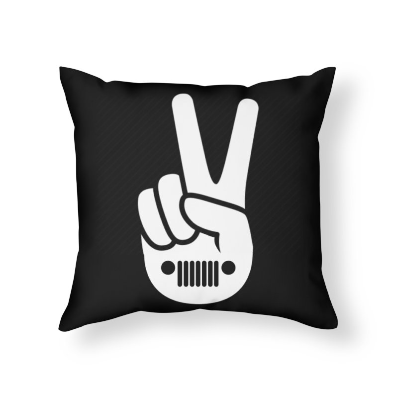 Peace Jeep Home Throw Pillow by JeepVIPClub's Artist Shop