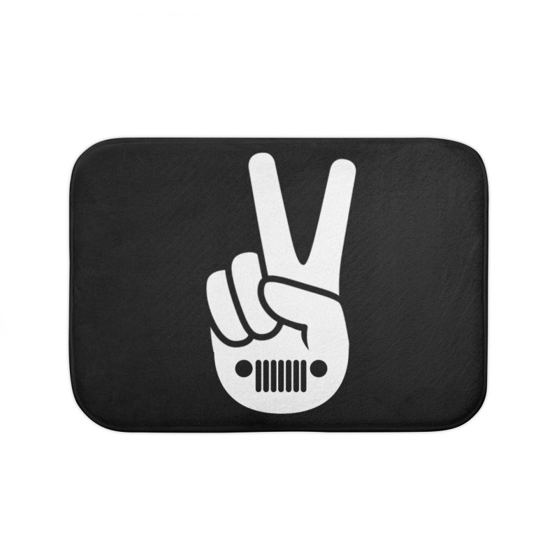 Peace Jeep Home Bath Mat by JeepVIPClub's Artist Shop